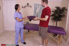 dick, massage, table, uniform