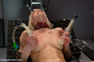 Small tits blonde fucked with a machine  - XXX Dessert - Picture 6