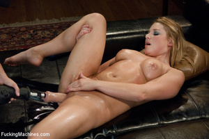 Blonde with big tits split apart with a  - Picture 10