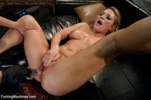Blonde with big tits split apart with a  - Picture 14
