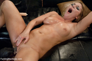 Blonde with big tits split apart with a  - Picture 15