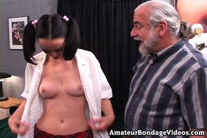 Gray-haired sugar daddy satisfies pretty - XXX Dessert - Picture 7