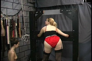 MILF with big butt in red panties gets b - XXX Dessert - Picture 1
