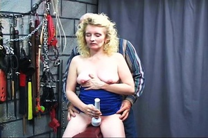 Blonde dame gets stimulated vagina with  - XXX Dessert - Picture 11