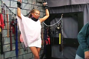 Beautiful black-skinned babe enjoys BDSM - XXX Dessert - Picture 2
