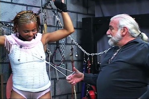 Beautiful black-skinned babe enjoys BDSM - XXX Dessert - Picture 4