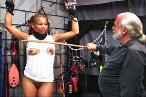 Beautiful black-skinned babe enjoys BDSM - XXX Dessert - Picture 7