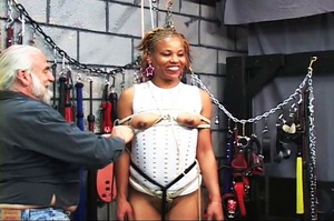 Beautiful black-skinned babe enjoys BDSM - XXX Dessert - Picture 10