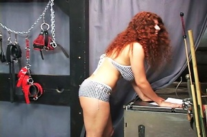 Chubby redhead gets chained and blindfol - XXX Dessert - Picture 2