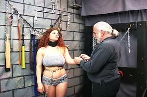 Chubby redhead gets chained and blindfol - XXX Dessert - Picture 3