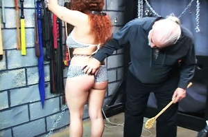Chubby redhead gets chained and blindfol - XXX Dessert - Picture 8