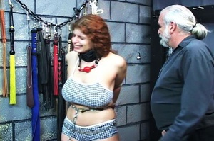 Chubby redhead gets chained and blindfol - XXX Dessert - Picture 14