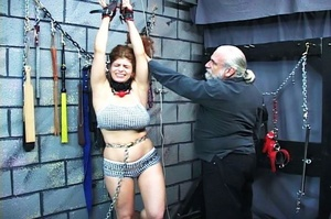 Chubby redhead gets chained and blindfol - XXX Dessert - Picture 16