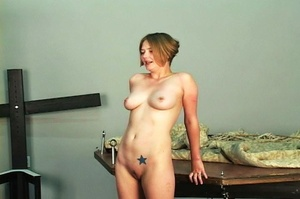 Short-haired woman with pierced nipples  - XXX Dessert - Picture 13
