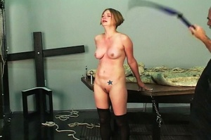 Short-haired woman with pierced nipples  - XXX Dessert - Picture 14