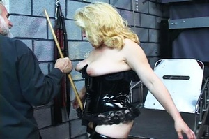 Fatty blonde woman gets dominated by exp - XXX Dessert - Picture 2