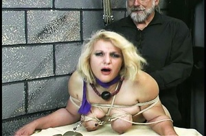 Fatty blonde woman gets dominated by exp - XXX Dessert - Picture 4