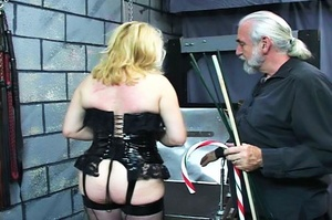 Fatty blonde woman gets dominated by exp - XXX Dessert - Picture 5