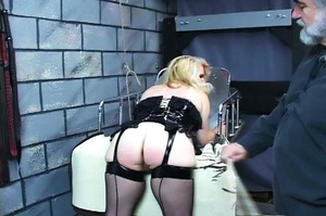 Fatty blonde woman gets dominated by exp - XXX Dessert - Picture 6