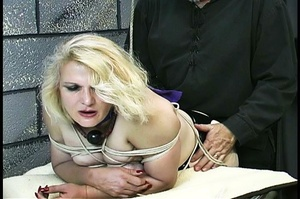Fatty blonde woman gets dominated by exp - XXX Dessert - Picture 14