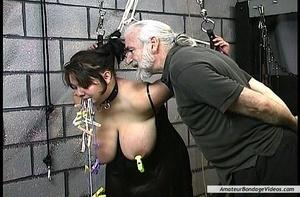 BDSM scene starring brunette BBW with in - XXX Dessert - Picture 11
