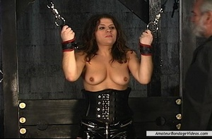 Chained MILF can't wait to get her natur - XXX Dessert - Picture 1