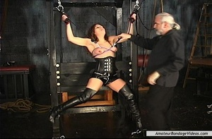 Chained MILF can't wait to get her natur - XXX Dessert - Picture 5