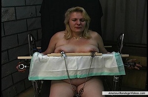 Chubby blonde MILF gets humiliated in a  - XXX Dessert - Picture 6