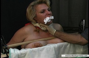 Chubby blonde MILF gets humiliated in a  - XXX Dessert - Picture 12