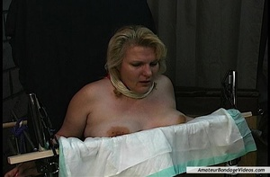 Chubby blonde MILF gets humiliated in a  - XXX Dessert - Picture 13
