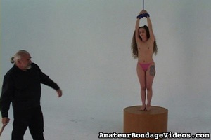 Helpless tied up girl gets wildly spanke - XXX Dessert - Picture 4