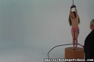 Helpless tied up girl gets wildly spanke - XXX Dessert - Picture 6