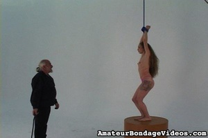 Helpless tied up girl gets wildly spanke - XXX Dessert - Picture 12