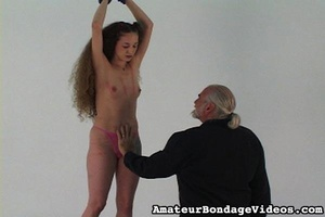 Helpless tied up girl gets wildly spanke - XXX Dessert - Picture 15