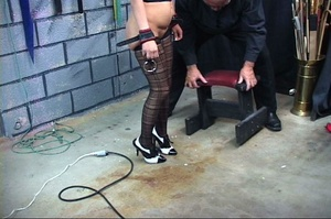 Bondaged blonde chick gets spanked hard  - XXX Dessert - Picture 8