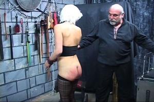 Bondaged blonde chick gets spanked hard  - XXX Dessert - Picture 10