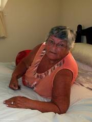 pretty granny pose her