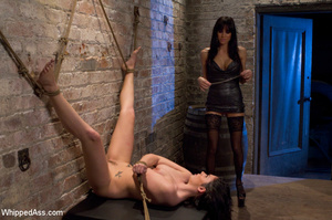 Two gorgeous brunettes play slave and ma - XXX Dessert - Picture 9
