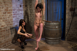 Two gorgeous brunettes play slave and ma - XXX Dessert - Picture 12