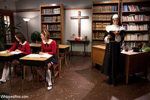 Nasty nun plays lesbian games with bdsm  - XXX Dessert - Picture 5