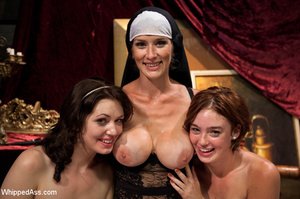 Nasty nun plays lesbian games with bdsm  - XXX Dessert - Picture 9