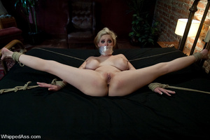 Oiled up blonde toyed and waxed by brune - XXX Dessert - Picture 11