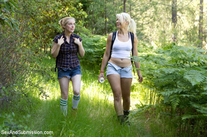 Two blondes captured in the woods and fu - XXX Dessert - Picture 1