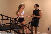 sports girl demonstrates her