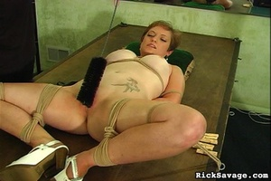 Master gives a nasty clit treatment to h - XXX Dessert - Picture 9