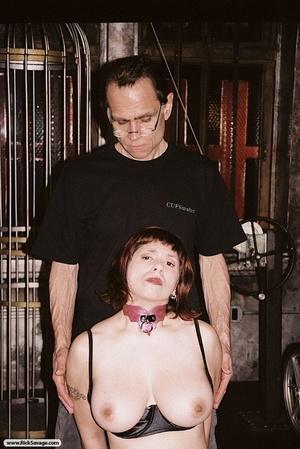 Bound bitch shows her impressive titties - XXX Dessert - Picture 2