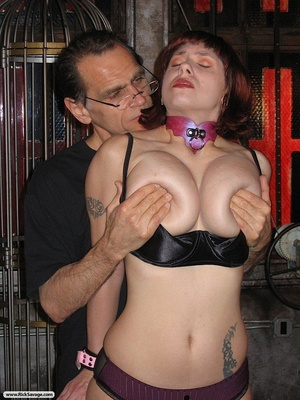 Bound bitch shows her impressive titties - XXX Dessert - Picture 12