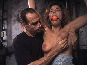 Fine babe with a shaved cunt gets gagged - XXX Dessert - Picture 5