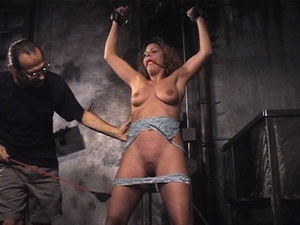 Fine babe with a shaved cunt gets gagged - XXX Dessert - Picture 8