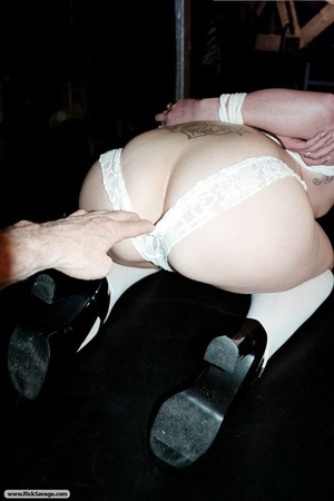 Redhead in bondage loves clothespins on  - XXX Dessert - Picture 1